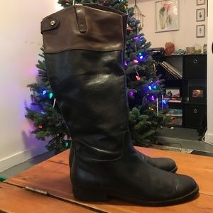 Black and brown genuine leather Ralph Lauren boot